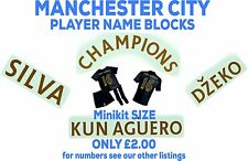 """KUN AGUERO"" Manchester City GOLD Premier League Junior Name Block 2013/14"