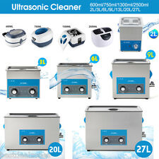 Ultrasonic Ultra Sonic Cleaner Stainless Steel Timer Heater Bath Tank Cleaning