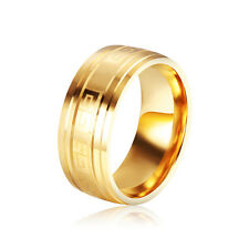 Yellow Gold Filled Fashion Couple Mens Womens Wedding Rings Size 7 8 9 10 11