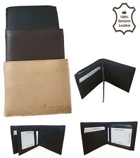 MENS GENTS REAL SOFT QUALITY LEATHER WALLET PURSE CARD HOLDER HAND CRAFTED E1136