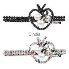 Crystal Rhinestone Bobby Pin Hair Clip Grip Slide Hairpin Accessories Girl Women