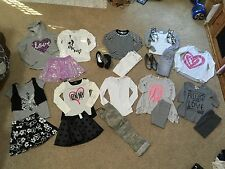 Justice Girls Outfits  DKNY shirts Camo pants Leggings Skorts Jeans shoes 8 / 10