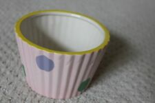 "Polka Dot Ceramic Ramikins Dish Pot 3.5"" Tall"