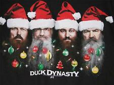DUCK DYNASTY COMMANDER CHRISTMAS T SHIRT SANTA HAT ROBERTSONS NEW