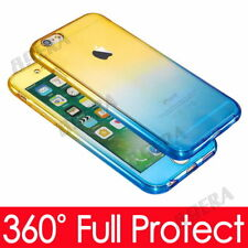 Luxury Shockproof Front Back Full Body TPU Silicone Clear Case Cover For iPhone