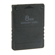 8MB 64MB 128M Memory Card for Sony Playstation 2 PS2 Black Brand New