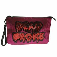 Iron Fist Dead Broke Clutch Bag Womens Purple Ladies Small Purse