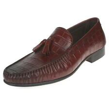 New Mens Real Leather Dress Formal shoes Tassel Slip on Loafers Pumps Shoes Sz