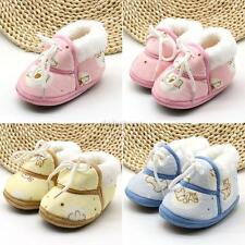 Toddler Baby Newborn Shoes Girl Boy Winter Warm Floral Anti-slip Prewalker Shoes