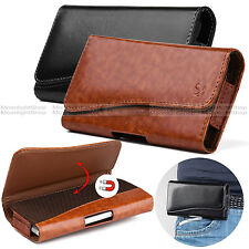 For Samsung Galaxy Note 3, 4, 5 Leather Holster Belt Clip Pouch Case Fliip Cover
