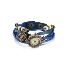 Fashion Delicate Women Mens Genuine Leather Multilayers Bracelet Bangle Jewelry