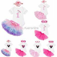 Cute Baby Girls Romper Infant Outfit Tulle Skirts Birthday Party Xmas Clothes
