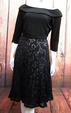 COAST BLACK SEQUINNED LACE SKIRT SIZE 10,12,14,16