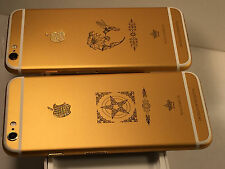 UNLOCK IPHONE 6S 4.7  64GB-16GB WHITE 24K 24CT REAL GOLD&DIAMOND SPECIAL EDITION