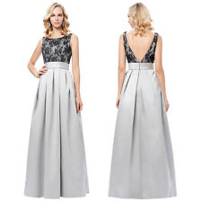 Vintage Satin Formal Prom Cocktail Party Ball Gown Evening Long Bridesmaid Dress