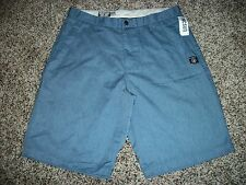 VOLCOM STONE New NWT Mens Casual Walk Shorts Blue With Cell Pocket 33 34 36 38