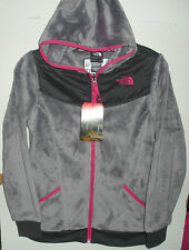 THE NORTH FACE GIRLS OSO HOODIE FLEECE JACKET-# A2RC -S,M,L,XL- METALLIC SILVER