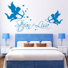 10643 Wandtattoo Loft Wall stickers love angel Desired Name Heart Cupid