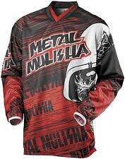 NEW Metal Mulisha RED Maimed Jersey motocross atv off road