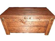 Wood Hope Chest Hidden Compartment Coffee Table Blanket Storage Knotty Pine