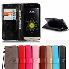 For LG K4 K10 G5 Luxury Folio Stand Leather Wallet Magnetic Flip Case TPU Cover