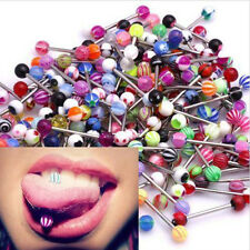 Lot Size Ball Tongue Navel Nipple Barbells Rings Bars Body Jewelry Piercing New