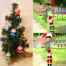 Santa Claus Parachute Christmas Ornament Toys Gift Xmas Tree Hanging Decorations