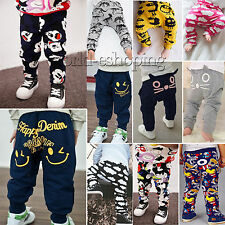 Toddler Baby Boys Girls Kids Harem Pants Casual Cotton Trousers Slacks Leggings