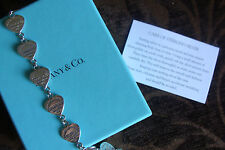 TIFFANY CO. SOLID STERLING SILVER 925 HEART COLLECTION LINK BRACELET