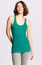 Mossimo Long & Lean Bluff Green Jacquard Textured Tank Top NWT Sizes XS SM MED