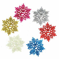 Classic Glitter Snowflake Xmas Tree Hanging Ornaments Party Christmas Decoration