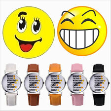 Fashion Lovely Happy Sad Face Expression Cute Women Girl Lady Quartz Wrist Watch