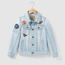 Abcd'r Boys Cotton Denim Jacket With Badges, 3-12 Years
