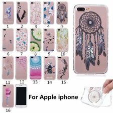 Rubber Pattern Soft TPU Silicone Back Case Skin Cover For iPhone 5 6 7 Plus