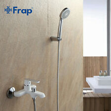 New arrivals White Bathroom Shower Brass Chrome Wall Mounted Shower Faucet Showe