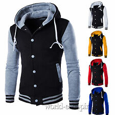 Mens Coat Jacket Outwear Sweater Tops Winter Slim Hoodie Warm Hooded Sweatshirt