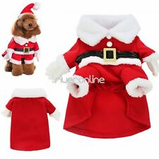 Pet Puppy Dog Christmas Clothes Santa Claus Costume Outwear Xmas Coat Apparel