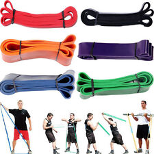 Heavy Duty Resistance Band Loop Power Gym Fitness Exercise Yoga Workout Pilate R