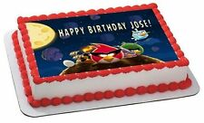 Angry Birds Space Edible Birthday Cake Topper OR Cupcake Topper, Decor