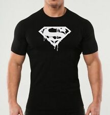 Mens Gym Workout T-Shirt Bodybuilding Fit Casual Top Gift Super Man