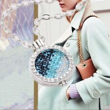 Crystal Disc Mi My Coin Charms Pendant Locket Holder DIY Necklace Jewellery Gift