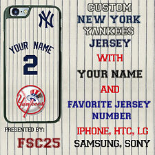 Custom NEW YORK YANKEES baseball Jersey Phone Case Cover w Your Name & # iphone