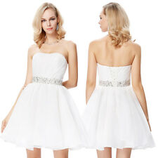 Homecoming Dress Girls White Cocktail Graduation Ball Bridesmaid PARTY Evening