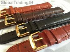 XXL EXTRA LONG LUXURY 18mm-24mm CROCODILE GRAIN LEATHER WATCH STRAP BAND