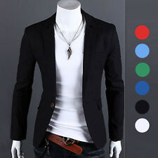 New Mens One Button Casual Slim Fit Stylish Suit Blazer Jackets Coats