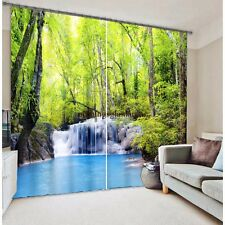Tree and waterfall design 3d digital Blackout curtains