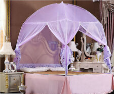 Purple Bedding Canopy Mosquito Net Tent  For Twin Full Queen King Bed Size