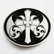 Celtic Iron Cross Pattern Totem Belt Buckle Gurtelschnalle Boucle de ceinture