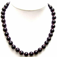 "SALE Big 10mm AAA Round High quality garnet gemstone Beads necklace 18""-nec5541"