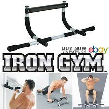 Home Gym Iron Pull up Bar Total Upper Body Workout Strength Training Fitness Kit